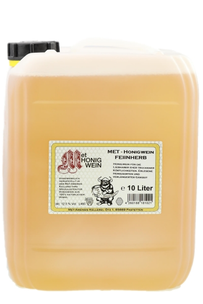 Met - Honigwein, feinherb halbtrocken, 12,5% vol. Kanister | 10 Liter
