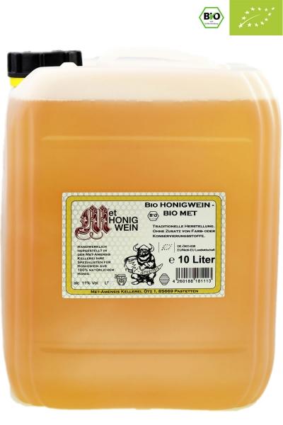 Bio Honigwein Metwein, klassisch lieblich, 11% vol. Kanister | 10 Liter