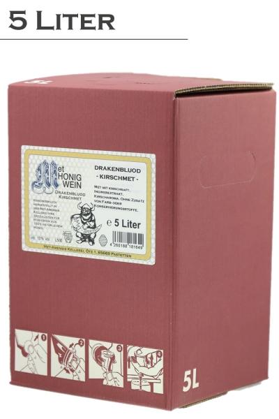 Kirschmet, Honigwein mit Kirschsaft, 10% vol. Weinkarton | 5 Liter