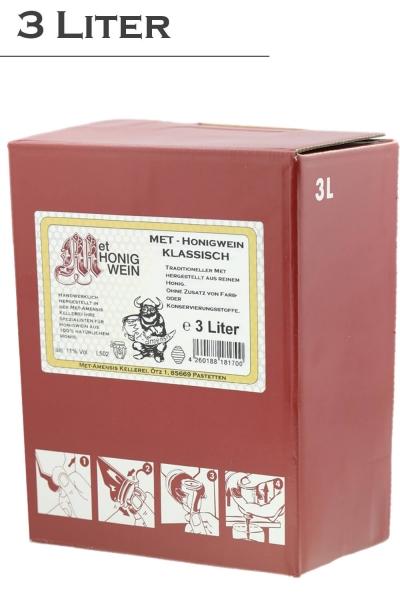 Met Honigwein - klassisch lieblich, 11% vol. Weinkarton  | 3 Liter