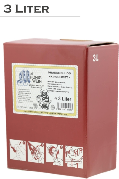 Kirschmet, Honigwein mit Kirschsaft, 10% vol. Weinkarton   3 Liter
