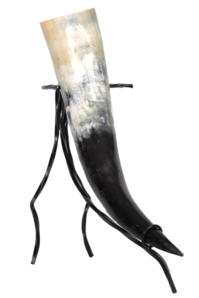 Trinkhorn - echtes Horn geschliffen, poliert, lebensmittelecht  lackiert
