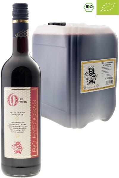 Hypocras BIO Gewürzwein - ökologischer Rotwein mit Bio-Honig und Gewürzen 12% vol.