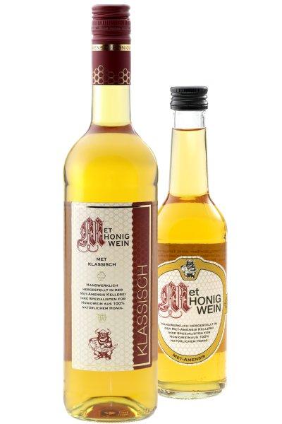 Flasche MET Amensis Honigwein | klassisch - lieblicher Honigmet, 11% vol.
