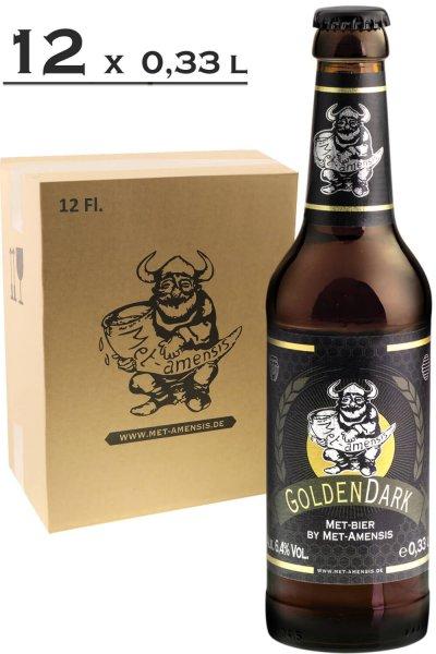 "Metbier - Honigbier ""GoldenDark"", 6,4% vol.,  330 ml Flasche 12 Fl. - Versandkarton"