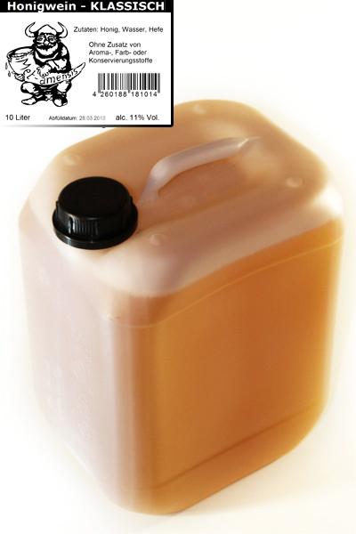 10 Liter Kanister Met klassik - lieblicher Honigwein Met klassisch