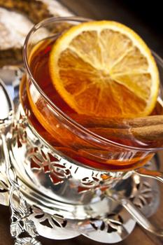 heisser Honigwein in Glas